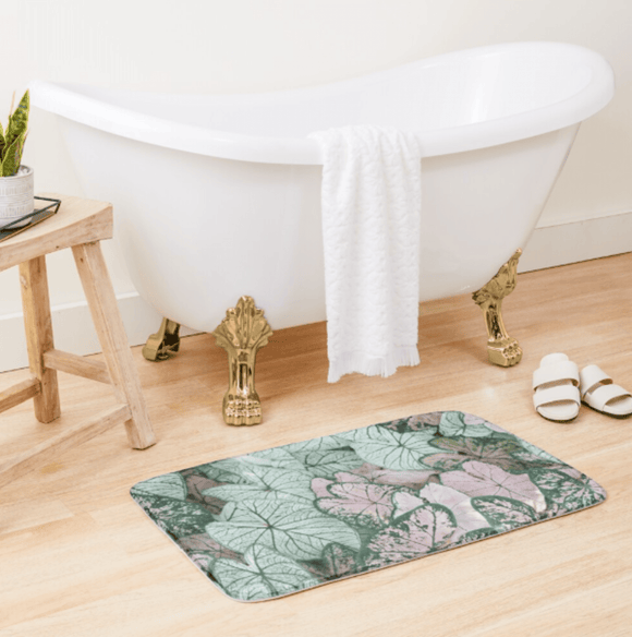 Luxury Bath Tub Shower Mat Spring Leaf Bath Mat Large 86x53 Centimeters Redbubble
