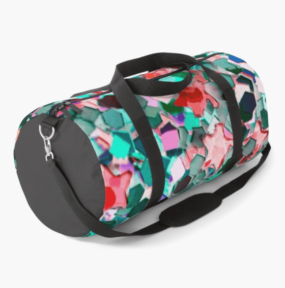 Luxury Duffle Bag Confetti Glitter Print Duffle Bag Redbubble