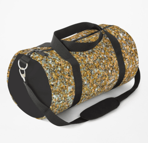 Luxury Duffle Bag Gold Glitter Print Duffle Bag Redbubble