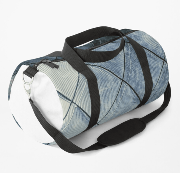 Luxury Duffle Bag Grey Diamonds Print Duffle Bag Redbubble