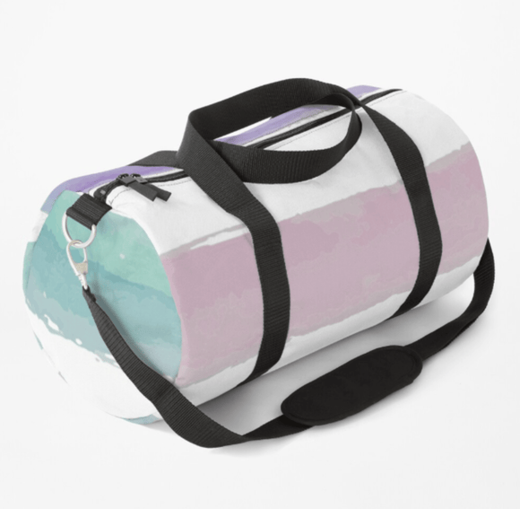Luxury Duffle Bag Pastel Dream Print Duffle Bag Redbubble