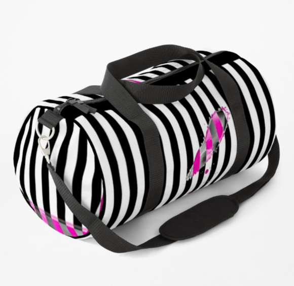 Luxury Duffle Bag Pink Lipstick Print Duffle Bag Redbubble