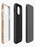 Luxury Extra Tough iPhone Gold Glitter Print Phone Case iPhone Case Redbubble