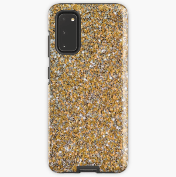 Luxury Extra Tough Samsung Galaxy Gold Glitter Print Phone Case Samsung Case Redbubble