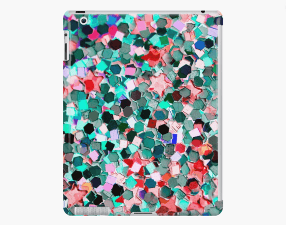 Luxury iPad Skin/Case Confetti Glitter Print iPad Case Or Skin iPad 4/3/2 / Snap Case Cult Art Fusion