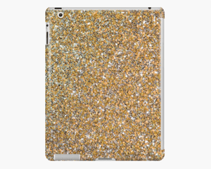 Luxury iPad Skin/Case Gold Glitter Print iPad Case Or Skin iPad 4/3/2 / Snap Case Cult Art Fusion