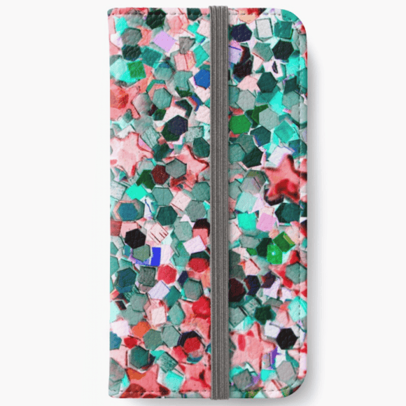 Luxury iPhone Wallet Confetti Glitter iPhone Wallet Cult Art Fusion