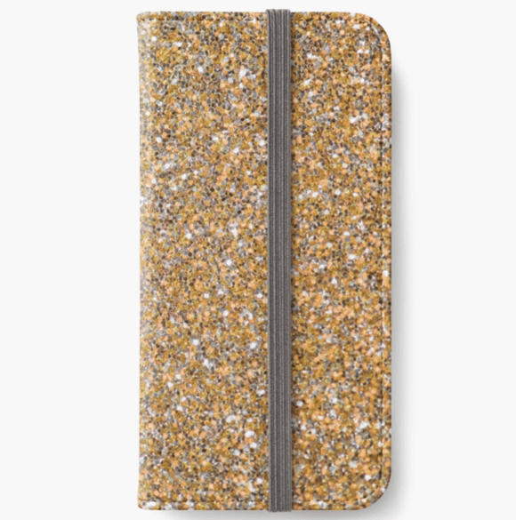Luxury iPhone Wallet Gold Glitter iPhone Wallet Cult Art Fusion