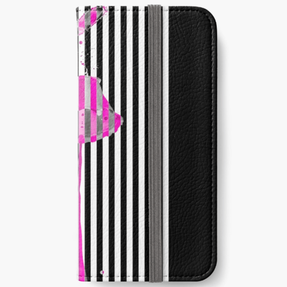 Luxury iPhone Wallet Pink Lipstick iPhone Wallet Cult Art Fusion