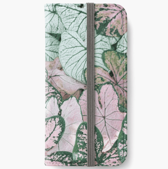 Luxury iPhone Wallet Spring Leaf iPhone Wallet Cult Art Fusion
