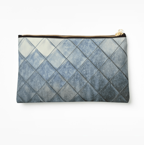 Luxury Make Up Bag Grey Diamonds Print Make Up Bag Cult Art Fusion