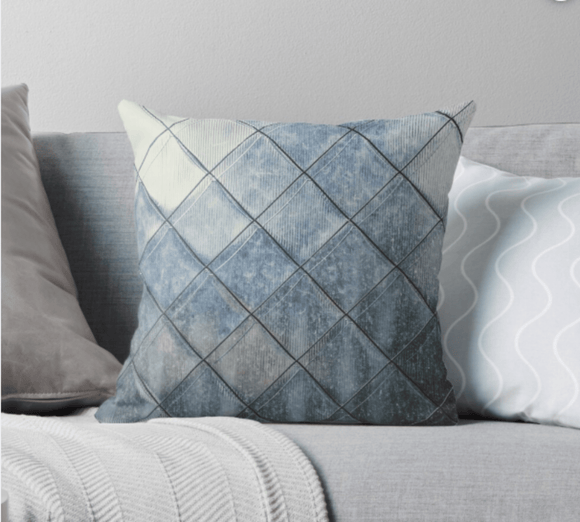 Luxury Pillow Scatter Cushion Cover Grey Diamonds Print Pillow Cover Redbubble