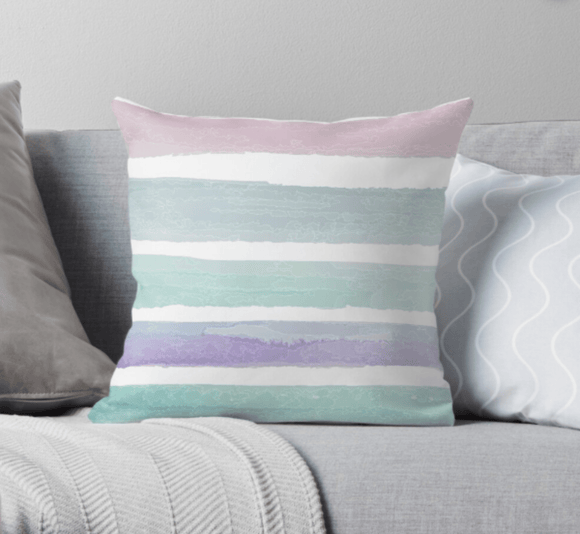 Luxury Pillow Scatter Cushion Cover Pastel Dream Print Pillow Cover Redbubble