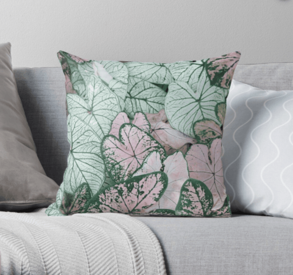 Luxury Pillow Scatter Cushion Cover Spring Leaf Print Pillow Cover Redbubble