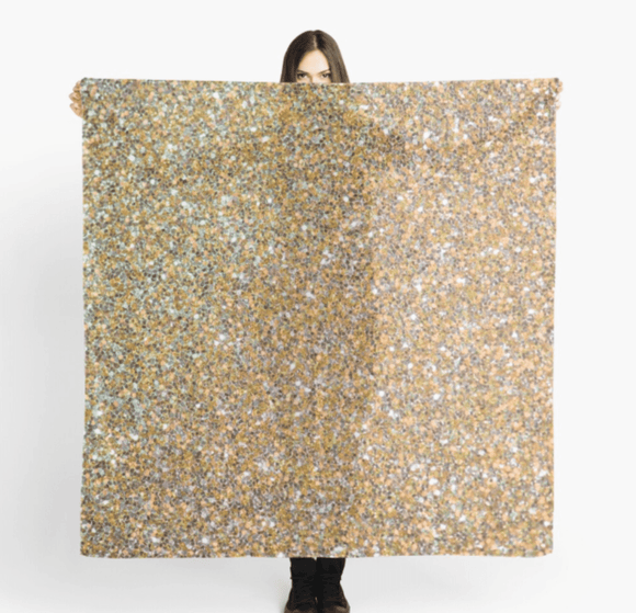 Luxury Scarf Gold Glitter Print Scarves Redbubble