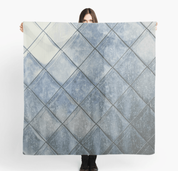 Luxury Scarf Grey Diamonds Print Scarves Redbubble