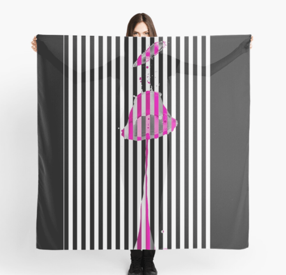 Luxury Scarf Lipstick Pink Print Scarves Redbubble