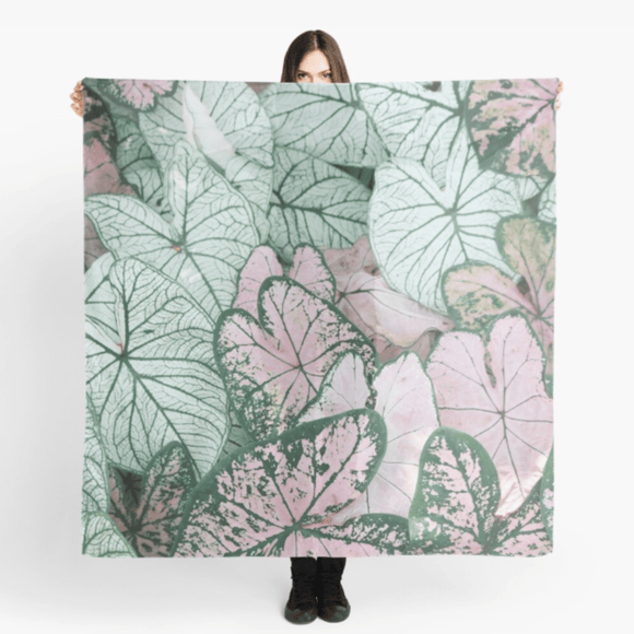 Luxury Scarf Spring Leaf Print Scarves Redbubble