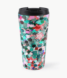 Luxury Travel Mug Confetti Glitter Travel Mug Cult Art Fusion