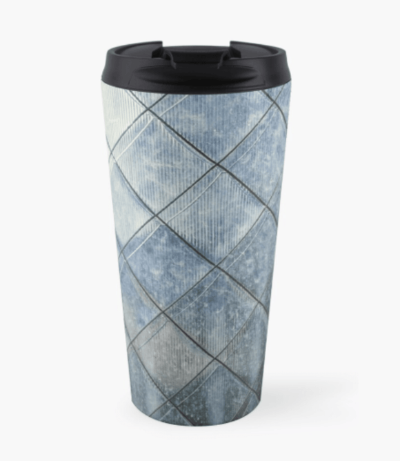Luxury Travel Mug Grey Diamonds Print Travel Mug Redbubble