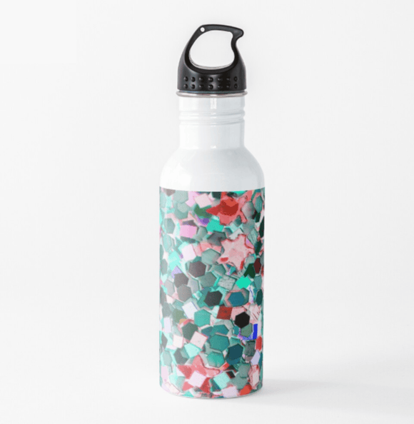 Luxury Water Bottle Confetti Glitter Print Water Bottle Cult Art Fusion