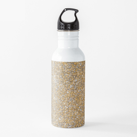 Luxury Water Bottle Gold Glitter Water Bottle Cult Art Fusion