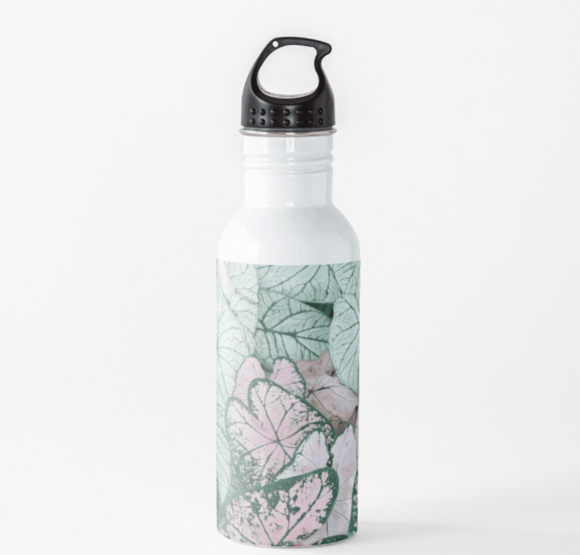 Luxury Water Bottle Spring Leaf Water Bottle Cult Art Fusion