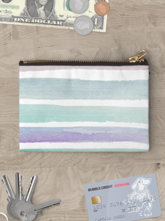 Luxury Zipper Pouch Pastel Dream Zipper Pouch Cult Art Fusion