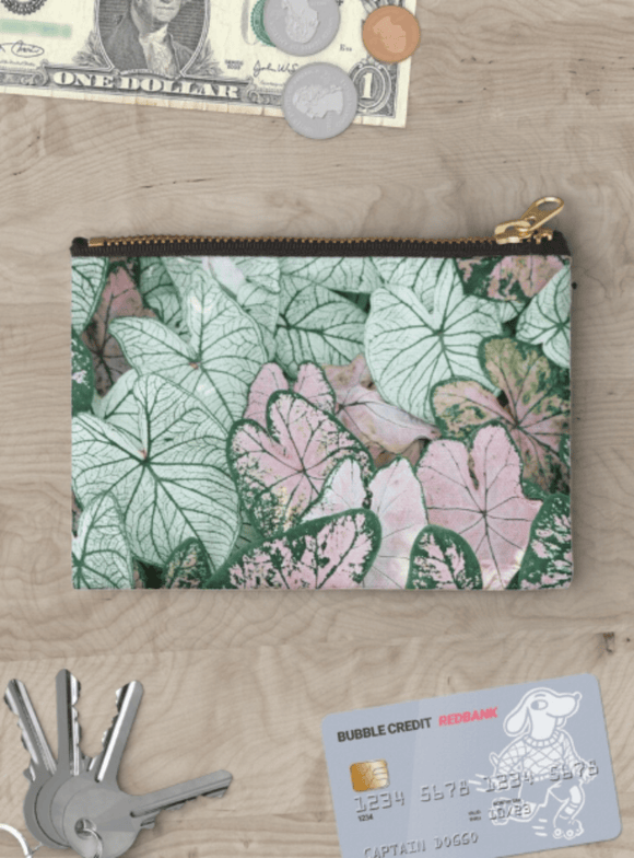 Luxury Zipper Pouch Spring Leaf Zipper Pouch Cult Art Fusion