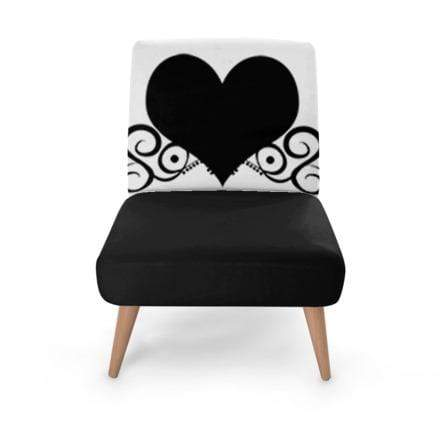 Monochrome Heart Occasional Chair Occasional Chair Cult Art Fusion