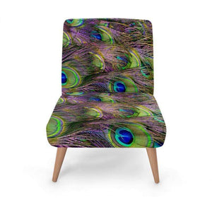 Peacock Print Occasional Chair Occasional Chair Cult Art Fusion