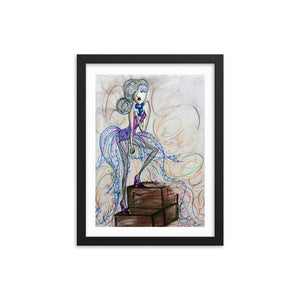 Power Blue Wooden Framed Print Cult Art Fusion