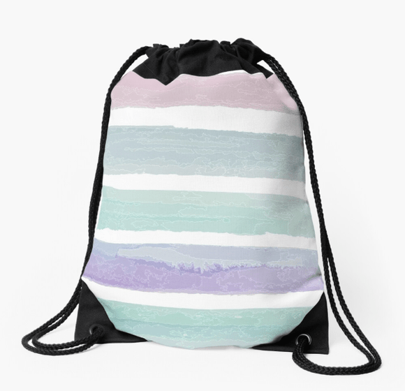 Premium Drawstring Bag Pastel Dream Print Drawstring Bag Redbubble