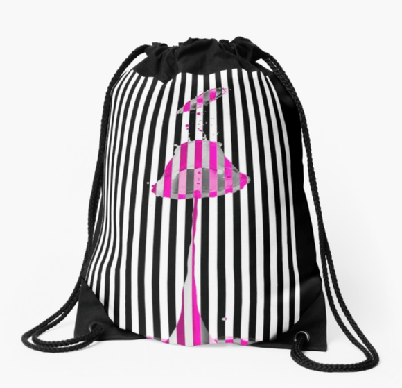 Premium Drawstring Bag Pink Lipstick Print Drawstring Bag Redbubble