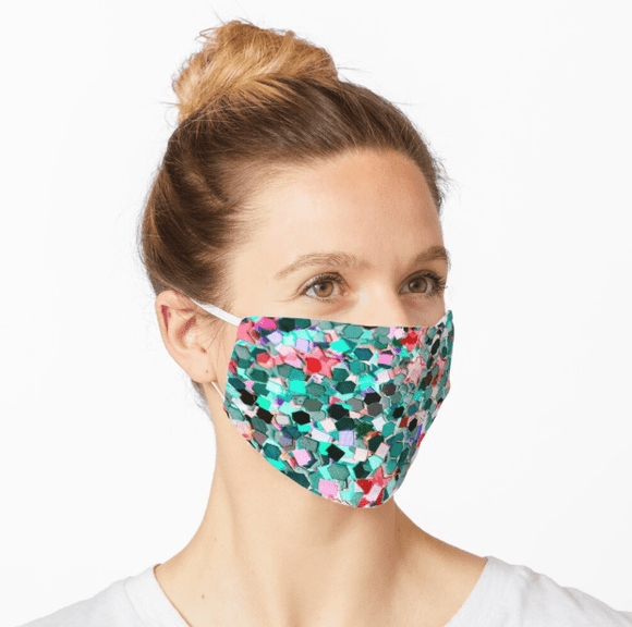 Premium Mask 2/3 Layer Confetti Glitter Print Mask Redbubble