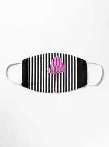 Premium Mask 2/3 Layer Lipstick Pink Print Mask Redbubble