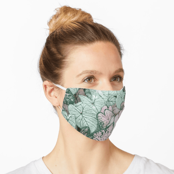 Premium Mask 2/3 Layer Spring Leaf Print Mask Redbubble