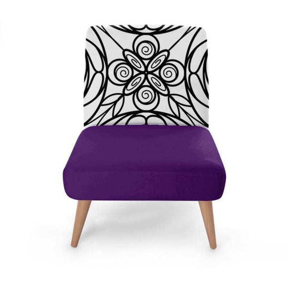 Purple Stained Glass Print Occasional Chair Occasional Chair Cult Art Fusion