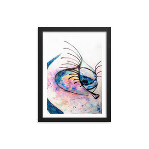 Soft Eyes Wooden Framed Print Cult Art Fusion