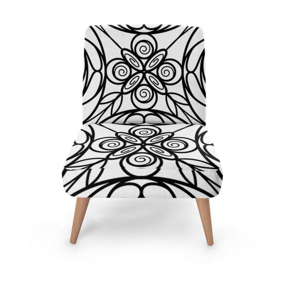 Stained Glass Print Occasional Chair Occasional Chair Cult Art Fusion