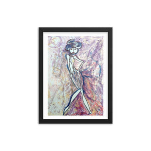 Stylista Wooden Framed Print Cult Art Fusion