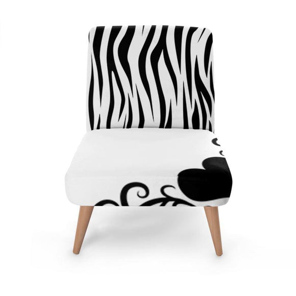 Swirl Animal Print Occasional Chair Occasional Chair Cult Art Fusion