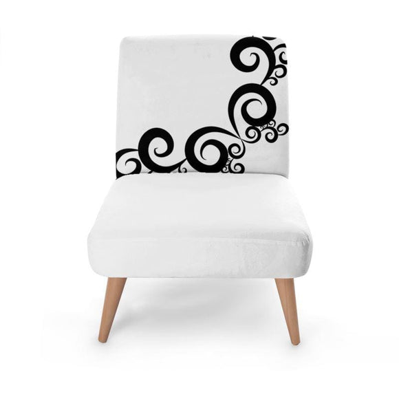 Swirl Print Occasional Chair Occasional Chair Cult Art Fusion