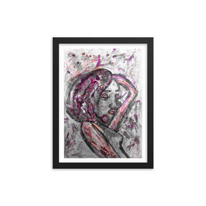 Troll Queen Mauve Wooden Framed Print Cult Art Fusion