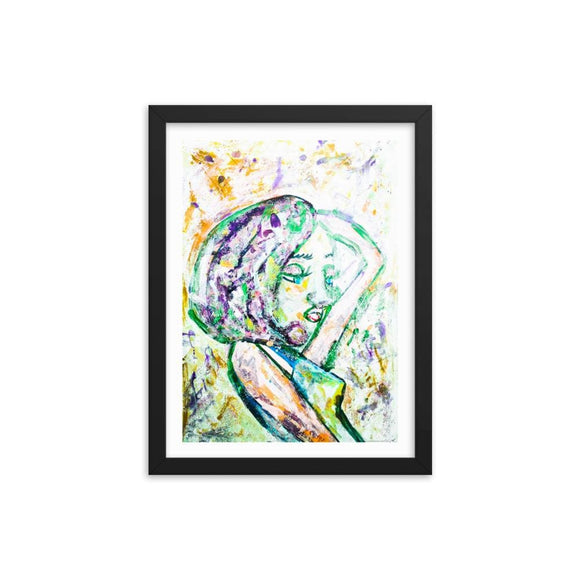 Troll Queen Sketch Wooden Framed Print Cult Art Fusion
