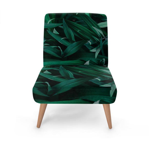 Tropical Leaf Print Occasional Chair Occasional Chair Cult Art Fusion