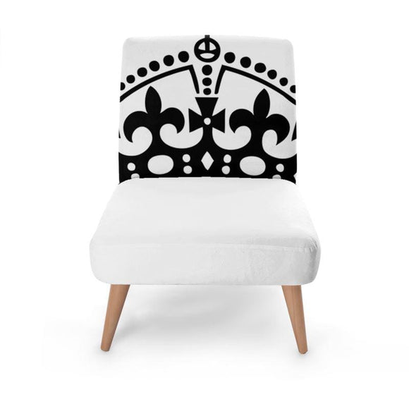 White Crown Occasional Chair Occasional Chair Cult Art Fusion