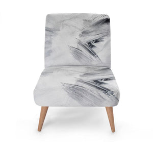 White Strokes Occasional Chair Occasional Chair Cult Art Fusion