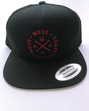 Most West Coast Apparel Black & Red Full Logo Snapback