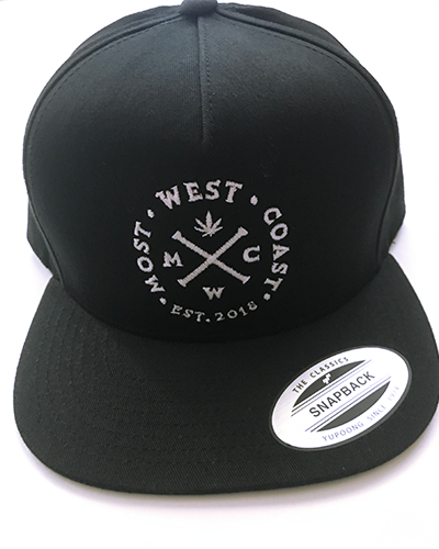 Black & White Full Logo Snapback